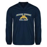 V Neck Navy Raglan Windshirt-Aggie Pride