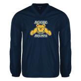 V Neck Navy Raglan Windshirt-Alumni