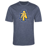 Performance Navy Heather Contender Tee-AT