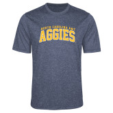 Performance Navy Heather Contender Tee-Arched North Carolina A&T Aggies