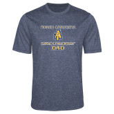 Performance Navy Heather Contender Tee-Dad