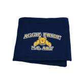 Navy Sweatshirt Blanket-Aggie Pride