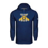 Under Armour Navy Performance Sweats Team Hoodie-NC A&T Aggies