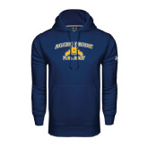 Under Armour Navy Performance Sweats Team Hoodie-Aggie Pride
