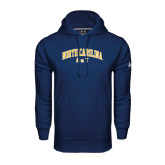 Under Armour Navy Performance Sweats Team Hood-Arched North Carolina A&T