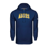 Under Armour Navy Performance Sweats Team Hood-Arched North Carolina A&T Aggies