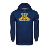 Under Armour Navy Performance Sweats Team Hood-Football