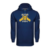 Under Armour Navy Performance Sweats Team Hood-Track