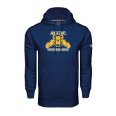 Under Armour Navy Performance Sweats Team Hood-Volleyball