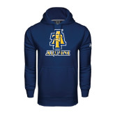 Under Armour Navy Performance Sweats Team Hoodie-Alumni