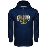 Under Armour Navy Performance Sweats Team Hoodie-2016 MEAC Champions Womens Basketball