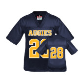 Youth Replica Navy Football Jersey-#28