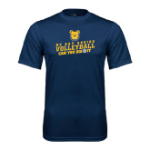 Performance Navy Tee-Volleyball Can You Dig It
