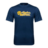 Performance Navy Tee-Softball Script