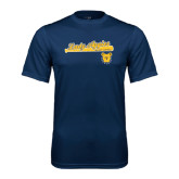 Performance Navy Tee-Softball Script on Bat