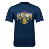 Performance Navy Tee-2016 MEAC Champions Womens Basketball