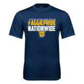 Performance Navy Tee-#AggiePride Nationwide