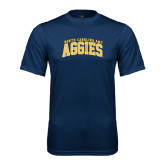 Performance Navy Tee-Arched North Carolina A&T Aggies