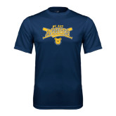 Syntrel Performance Navy Tee-Baseball Crossed Bats