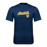 Performance Navy Tee-Baseball Bat