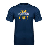 Performance Navy Tee-Basketball in Ball