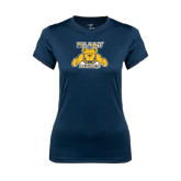 Ladies Syntrel Performance Navy Tee-NC A&T Aggies