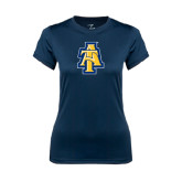 Ladies Syntrel Performance Navy Tee-AT