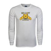 White Long Sleeve T Shirt-NC A&T Aggies