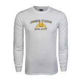 White Long Sleeve T Shirt-Aggie Pride