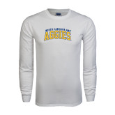 White Long Sleeve T Shirt-Arched North Carolina A&T Aggies