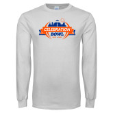 White Long Sleeve T Shirt-Celebration Bowl Official Logo