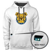 Contemporary Sofspun White Hoodie-Bulldog Head