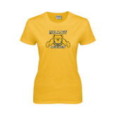 Ladies Gold T Shirt-NC A&T Aggies