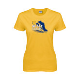 Ladies Gold T Shirt-Cross Country Sneaker