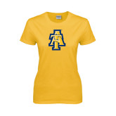 Ladies Gold T Shirt-AT