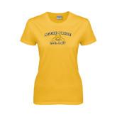 Ladies Gold T Shirt-Aggie Pride