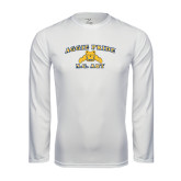 Performance White Longsleeve Shirt-Aggie Pride