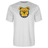 Performance White Tee-Bulldog Head