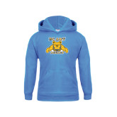 Youth Light Blue Fleece Hoodie-NC A&T Aggies