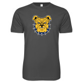 Next Level SoftStyle Charcoal T Shirt-Bulldog Head