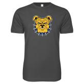 Next Level SoftStyle Charcoal T Shirt-Bulldog Head