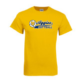 Gold T Shirt-Softball Script