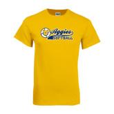 Gold T Shirt-Softball Script