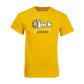 Gold T Shirt-AT-The Lock-Aggie Athletics Get Locked In