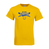 Gold T Shirt-Baseball Crossed Bats