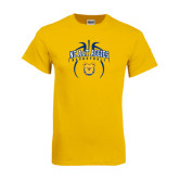 Gold T Shirt-Basketball in Ball