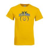 Gold T Shirt-Basketball in Ball