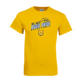Gold T Shirt-Basketball Pride