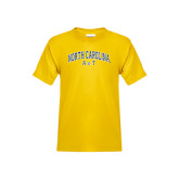 Youth Gold T Shirt-Arched North Carolina A&T