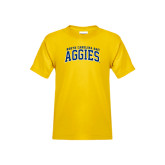 Youth Gold T Shirt-Arched North Carolina A&T Aggies